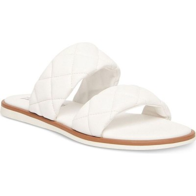 スティーブ マデン Steve Madden レディース サンダル・ミュール シューズ・靴 Orsa Quilted Slide Sandals White