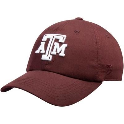 ユニセックス スポーツリーグ アメリカ大学スポーツ Texas A&M Aggies Top of the World Primary Logo Staple Adjustable Hat - Maroon