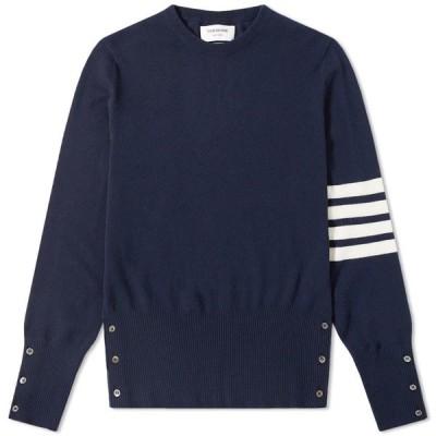 トム ブラウン Thom Browne メンズ ニット・セーター トップス arm stripe cashmere crew knit Navy