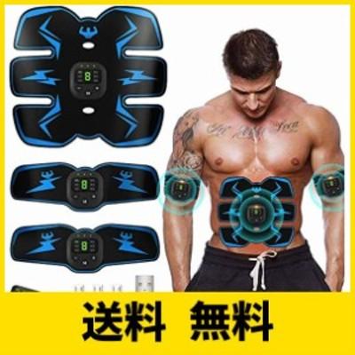 EMS 腹筋ベルト 液晶表示 USB充電式 腹筋 腕筋 筋トレ器具 腹筋トレーニング ダイエット エクササイズ フィットネス 男女兼用「6種類