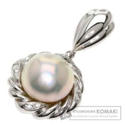 タサキ TASAKI  パール 真珠 ダイヤモンド  ペンダントトップ K14ホワイトゴールド 中古