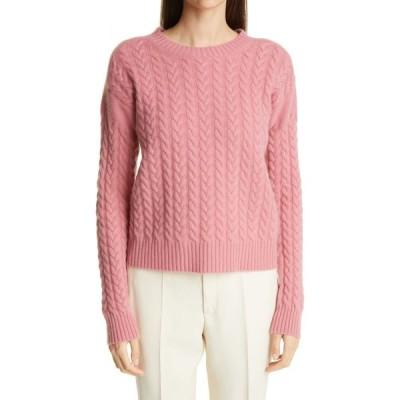 マックスマーラ MAX MARA レディース ニット・セーター トップス Breda Cable Wool & Cashmere Sweater Rosa