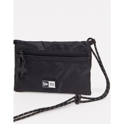 ニューエラ New Era メンズ ショルダーバッグ バッグ logo mini across body bag in black ブラック