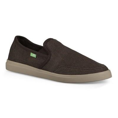 サヌーク スニーカー メンズ シューズ Sanuk Men's Vagabond Slip-On Sneaker Shoe Brown