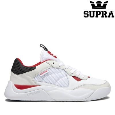 スープラ スニーカー SUPRA PECOS WHITE/RED-WHITE 正規取扱店 メンズ シューズ