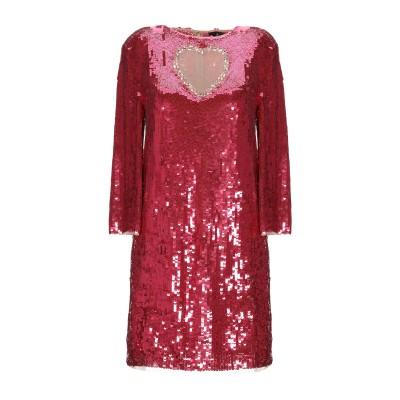 ELISABETTA FRANCHI ミニワンピース&ドレス ガーネット 38 ナイロン 100% / プラスティック ミニワンピース&ドレス