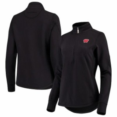 Tommy Bahama トミー バハマ スポーツ用品  Tommy Bahama Wisconsin Badgers Womens Black Jen N Terry Half-Zip Pullover Jacket