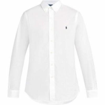 ラルフ ローレン Polo Ralph Lauren メンズ シャツ トップス Logo-embroidered cotton shirt White