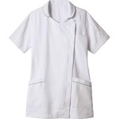 住商モンブラン住商モンブラン ナースジャケット 半袖 白×グレー 3L 73-2110(直送品)