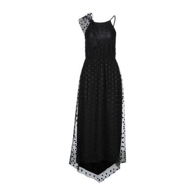 カルラ ジー CARLA G. ロングワンピース&ドレス ブラック 42 ポリエステル 100% / レーヨン / ポリウレタン ロングワンピース&