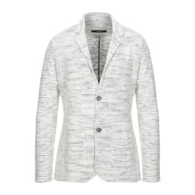 ALBARENA テーラードジャケット ホワイト L レーヨン 95% / ポリアクリル 5% テーラードジャケット