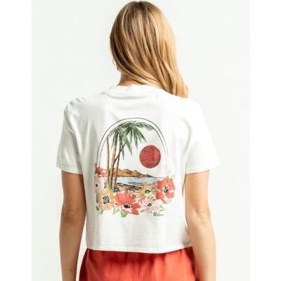 ボルコム VOLCOM レディース ベアトップ・チューブトップ・クロップド ポケット Tシャツ トップス Pocket Dial White Crop Tee WHITE