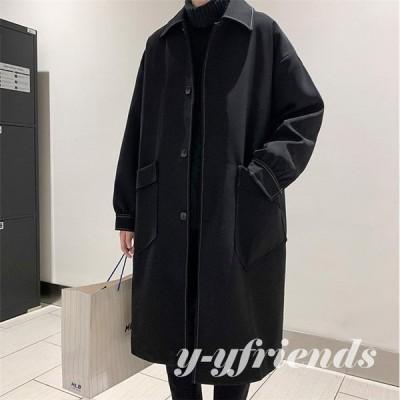 トレンチコート メンズ スプリングコート Pコート ビジネスコート ステンカラー アウター コート 秋