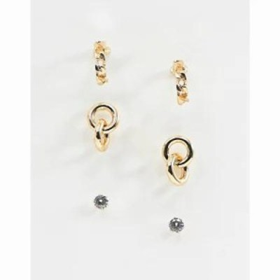 リバーアイランド イヤリング・ピアス 3 pack earrings pack in gold Metal yellow