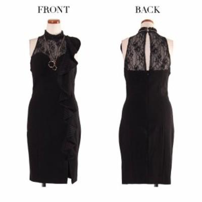 IRMA ドレス イルマ キャバドレス ナイトドレス ワンピース ブラック 黒 7号 S 9号 M 85289 クラブ スナック キャバクラ パーティードレ