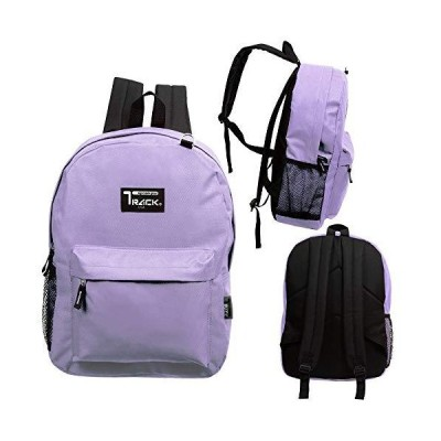 17 Inch Classic Wholesale Backpacks - Bulk Case of 24 Bookbags (Purple) 並行輸入品