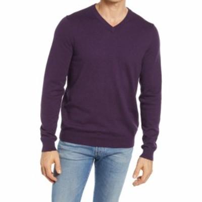 ノードストローム NORDSTROM メンズ ニット・セーター Vネック トップス Shop Cotton and Cashmere V-Neck Sweater Purple Crown