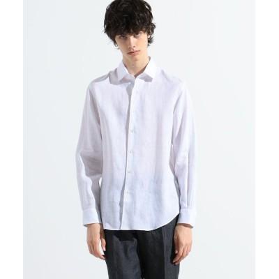【トゥモローランド】 サハラ セミワイドカラーシャツ ALBINI メンズ 11ホワイト S TOMORROWLAND