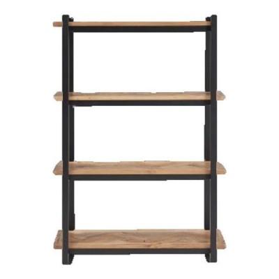 送料無料  シェルフ 幅90 飾り棚 木製 ヘリンボーン柄 オシャレ オープン棚 リビング収納 オープンシェルフ