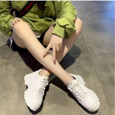 スニーカー ホワイト ハイカット 厚底 シューズ 靴■n1296■【メール便送料無料】