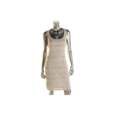 ゲス ドレス ワンピース Guess 7345 レディース Jordina アイボリー Crochet ノースリーブ カジュアル ドレス 6 BHFO