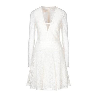 ジャンバティスタ ヴァリ GIAMBATTISTA VALLI ミニワンピース&ドレス ホワイト 40 コットン 80% / ポリエステル 20%
