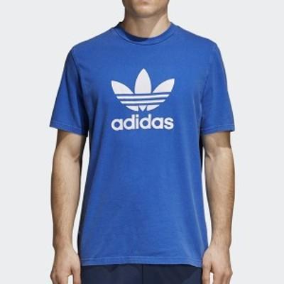 adidas Originalsアディダスオリジナルス正規品トリフォイルTREFOIL TEEブルー半袖TEEシャツBlue/CW0703