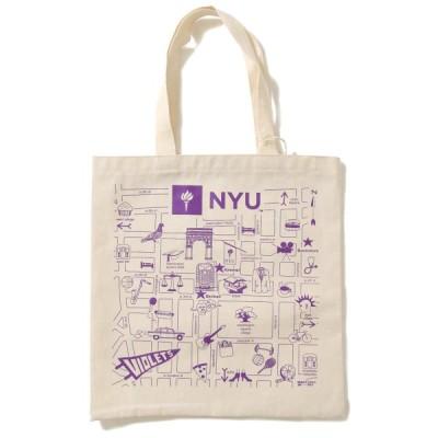 MAP TOTE マップトート トートバッグ メンズ ウィメンズ トート 鞄 ニューヨーク大学 NEWYORK NEW YORK ニューヨーク お土産 海外限定 NYU TOTE BAG NATURAL