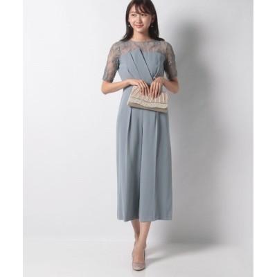 【プロポーション ボディドレッシング】 LLスリーブレースパンツドレス レディース ブルー 2S PROPORTION BODY DRESSING