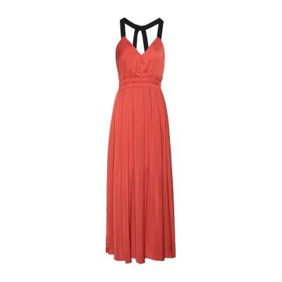 8 by YOOX ロングワンピース&ドレス 赤茶色 46 ポリエステル 100% ロングワンピース&ドレス