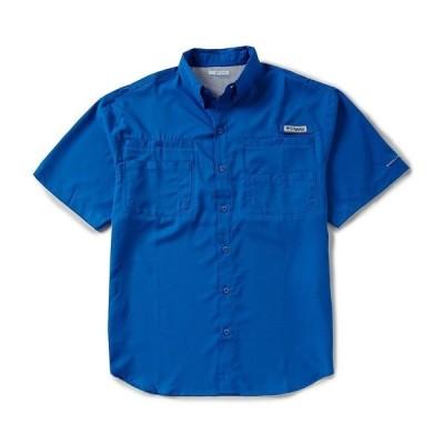 コロンビア メンズ シャツ トップス PFG Tamiami II Short-Sleeve Solid Shirt Vivid Blue