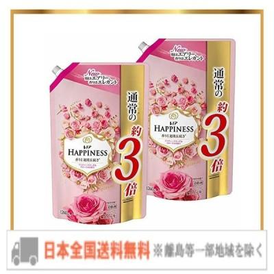 レノア ハピネス 柔軟剤 アンティークローズ&フローラル 詰め替え 約3倍(1260mL)×2袋