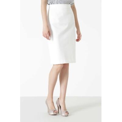 PINKY&DIANNE (ピンキーアンドダイアン) レディース ◆コンパクトポンチセットアップスカート ホワイト(030) 40