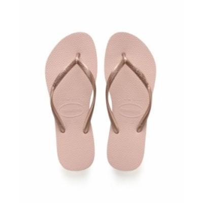 ハワイアナス レディース サンダル シューズ Women's Slim Flip Flop Sandals Ballet Rose