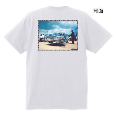64インパラ ローライダー Tシャツ 白 チカーノ アメ車 ハイドロ  黒地へ変更可能
