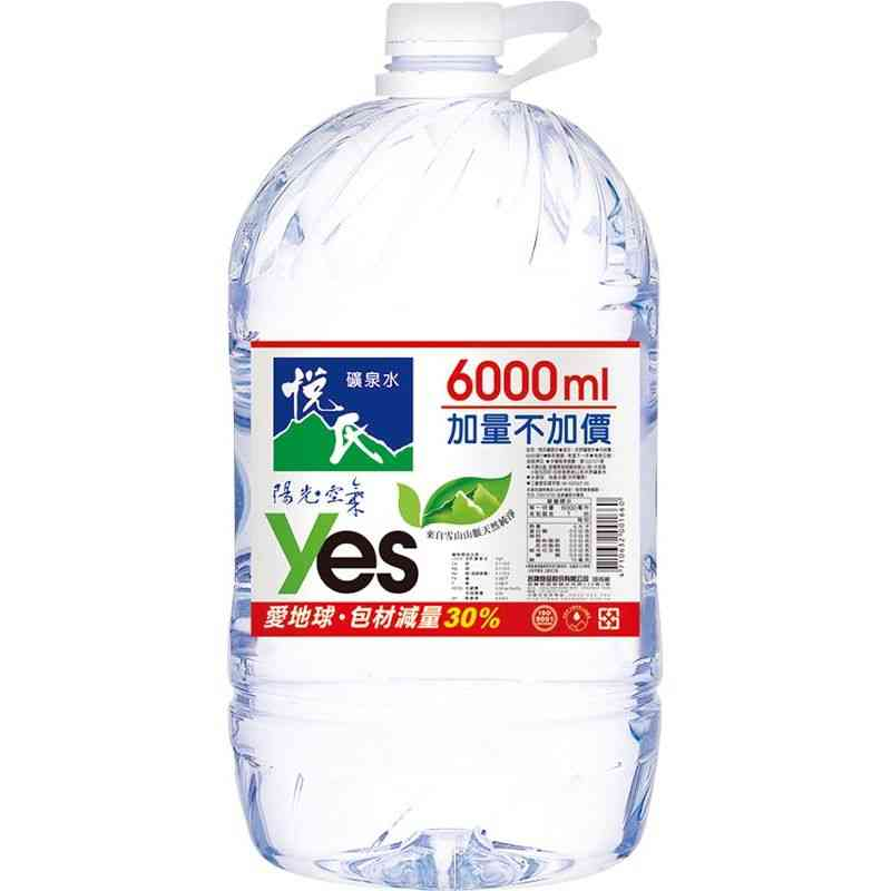 悅氏天然水6000ml
