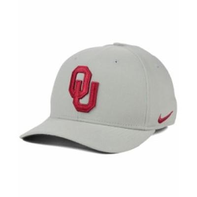 ナイキ メンズ 帽子 アクセサリー Oklahoma Sooners Classic Swoosh Cap Gray