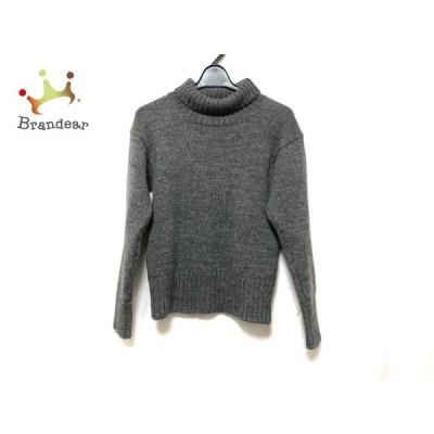 マーガレットハウエル 長袖セーター サイズXS レディース 美品 ダークグレー タートルネック  値下げ 20210330