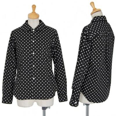 グッドデザインショップ コムデギャルソンGOOD DESIGN SHOP COMME des GARCONS ドット丸襟コットンシャツ 黒XS 【レディース】
