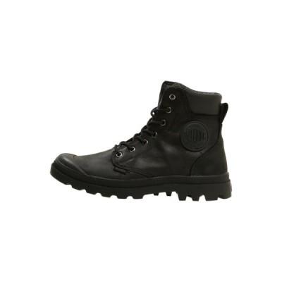 パラディウム ブーツ&レインブーツ メンズ シューズ PAMPA SPORT CUFF WATERPROOF LUX - Lace-up ankle boots - black/black