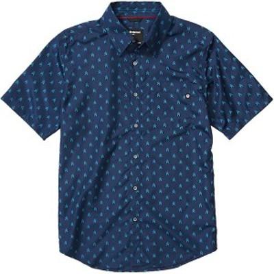 マーモット メンズ シャツ トップス Lykken Short-Sleeve Shirt Arctic Navy Arrows