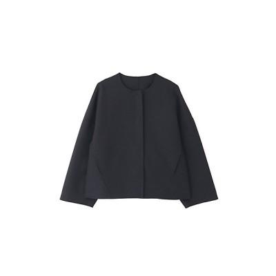 <ADORE(Women)/アドーア> ライトリバーノーカラージャケット ブラック【三越伊勢丹/公式】