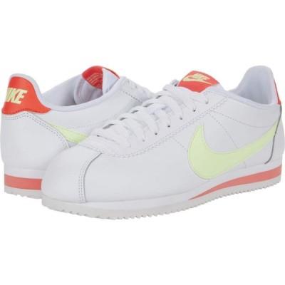 ナイキ Nike レディース スニーカー シューズ・靴 Classic Cortez Leather White/Barely Volt/Flash Crimson
