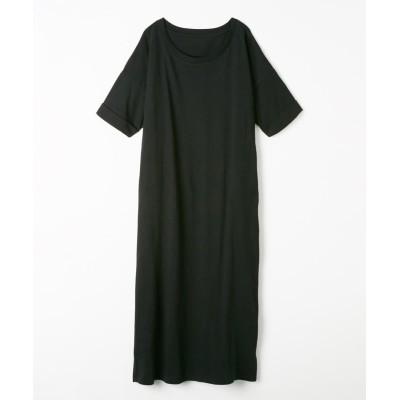 ロング丈Tシャツワンピース (ワンピース)Dress