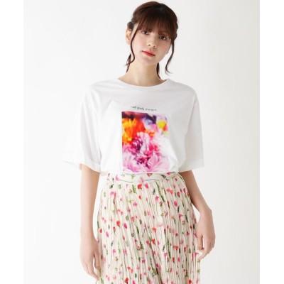 ITS' DEMO(イッツデモ) plantica アートフラワーフォトTシャツ