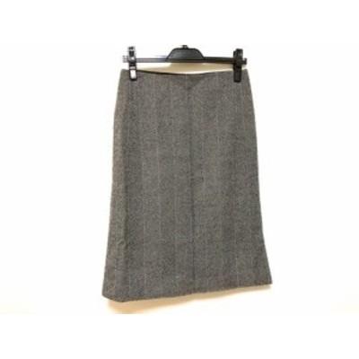 マルティニーク martinique スカート サイズ2 M レディース 黒×ライトグレー【中古】