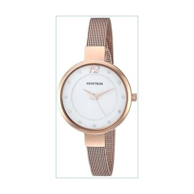 Armitron Women's 75/5465WTRG Swarovski Crystal Accented Rose Gold-Tone Mesh Bracelet Watch並行輸入品