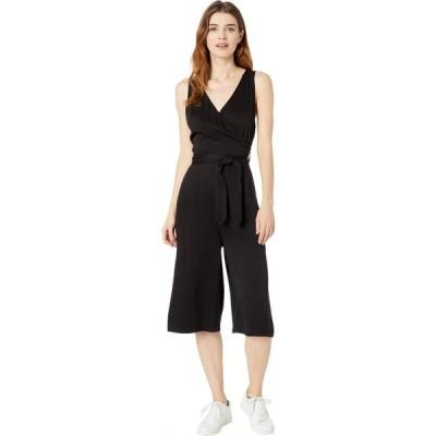 ボビ ロサンゼルス bobi Los Angeles レディース オールインワン ジャンプスーツ クロップド ワンピース・ドレス Black Rayon Twill Crop Wrap Jumpsuit Black