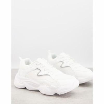 トリュフコレクション Truffle Collection メンズ スニーカー チャンキーヒール シューズ・靴 Chunky Dad Trainers In White ホワイト