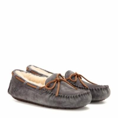 アグ Ugg レディース ローファー・オックスフォード シューズ・靴 dakota shearling-lined moccasins Pewter